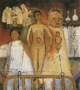 Frida Kahlo Kahlo and Caesarean operation oil painting reproduction